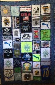 FINISHED T-SHIRT QUILT